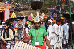 Editorial: Surajkund, Haryana, India:Feb 06th, 2016:Spirit of Carnival in 30th International crafts Carnival. Stock Images