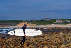Editorial surfer Ditch Plains Montauk New York Royalty Free Stock Photos