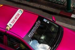 Editorial, taxi oficial en Bangkok, Tailandia Fotografía de archivo libre de regalías