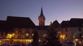 Editorial: 10th December 2016: Obernai, France. Evening highlighting
