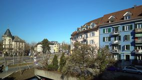 Editorial: 15th February 2017. City view of Bern. stock footage