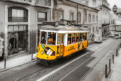 Editorial: 8th June 2017: Lisbon, Portugal:  Classical colorized Royalty Free Stock Photo