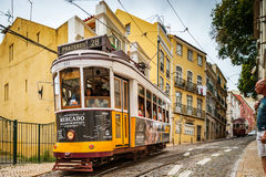 Editorial: 8th June 2017: Lisbon, Portugal:  Classical colorized Royalty Free Stock Image