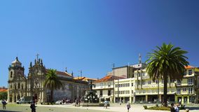 Editorial: 6th June 2017, Porto, Portugal. Street view at sunny day.