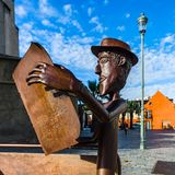 Editorial: 20th October 2017: Tarbes, France. Bronze statue of m Stock Images