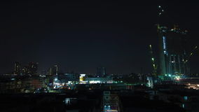 Editorial,time lapse,business. BANGKOK THAILAND - FEBRUARY 21 : time lapse of building construction at night in Sukhumvit 101/1 on February 21, 2017 in Bangkok stock video