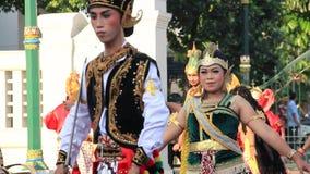 Editorial, tradicional dança de rua do Javanês vídeos de arquivo