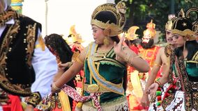 Editorial, Traditional dancers performing in Malioboro Street
