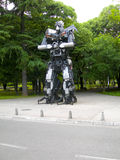 Editorial transformer sculpture art made of automobile parts Tra Royalty Free Stock Photo