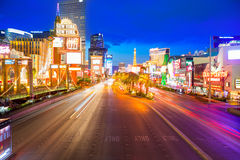 Editorial use only Las Vegas Nevada Strip at night Stock Photos