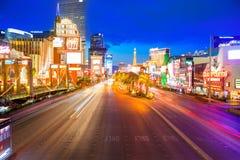Editorial use only Las Vegas Nevada Strip at night stock photos
