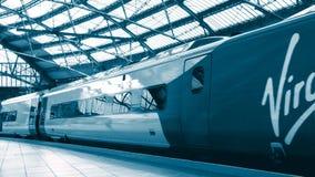 Editorial virgin pendolino train arrival at liverpool united kingdom. In 4k stock video footage