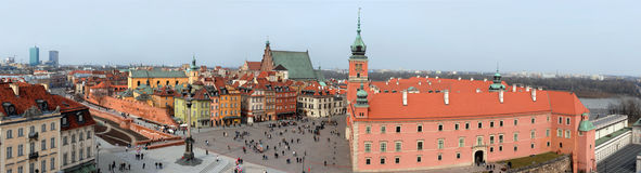 Editorial Warsaw view. Panoramic view of Old Town in Warsaw. Editorial image Stock Images