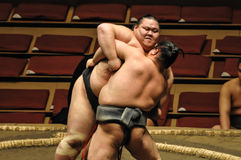 Editorial Wrestlers in Sumo Tournament Stock Images