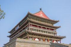 Looking up at the drum tower in Xi`an