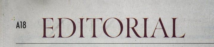 Editoriale del giornale immagine stock