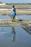 Editoriale documentario di immagine Agricoltore del sale India Immagine Stock Libera da Diritti