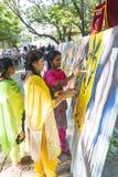 Editoriale documentario PONDICHERY, PUDUCHERY, TAMIL NADU, INDIA - 8 marzo 2018 Per il giorno internazionale della donna, gir non Immagini Stock Libere da Diritti