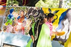 Editoriale documentario PONDICHERY, PUDUCHERY, TAMIL NADU, INDIA - 8 marzo 2018 Per il giorno internazionale della donna, gir non Immagini Stock