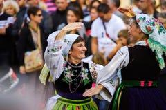 Editoriale, il 4 ottobre 2015: Barr, Francia: DES Vendanges di festa Fotografia Stock