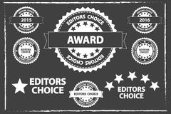 Editors Choice Badges Set Stock Photography