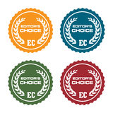 Editors choice badges stock images
