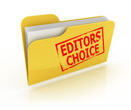 Editors choice folder icon Royalty Free Stock Image