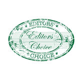Editors choice oval stamp Royalty Free Stock Photo