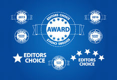 Editors Choice Quality Product Award Stock Photo