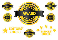 Editors Choice Quality Product Badges. Vector Royalty Free Stock Image