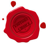Editors choice seal. Editors choice  red wax steal Royalty Free Stock Photography