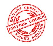 Editors choice stamp. Illustration of Editors choice stamp in red ink Stock Photo