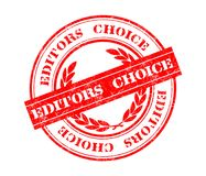 Editors Choice stamp. Illustration of Editors Choice stamp with red solid rectangle Stock Photos