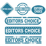 Editors choice stamps. Set of six grunge editors choice stamps isolated on white background.EPS file available stock illustration