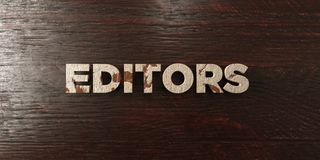 Editors - grungy wooden headline on Maple  - 3D rendered royalty free stock image Stock Photography