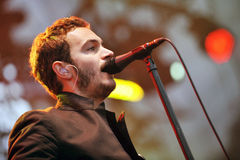 Editors. Singer Tom Smith of Editors during performance on festival Rock for People in Hradec Kralove, Czech republic, July 6, 2010 Stock Photos