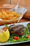 Edium grilled beef steak Royalty Free Stock Images