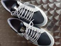 Edizione 03 del nero di scarpe Fotografia Stock