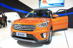 Edizione dell'arancia di Pechino Hyundai ix25 Fotografie Stock Libere da Diritti