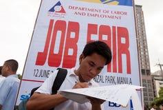 Edizione di disoccupazione a Manila, Filippine Fotografia Stock