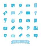 Edizione di fusione del ghiaccio della raccolta liquida delle icone Immagine Stock