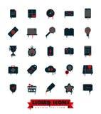 Edizione gotica della raccolta liquida delle icone Fotografie Stock Libere da Diritti