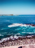 Puerto Rico blue ocean coast view. Ocean water near the edje of the puerto ricaan coast Stock Photo