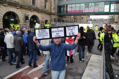EDL Demo in Blackburn Stock Photos