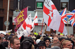 EDL Demo in Blackburn Stock Image
