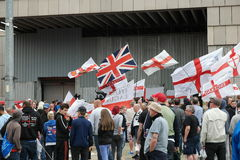 EDL Rally in Walsall England on 15 August 2015 Royalty Free Stock Images