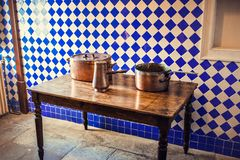 Edla Countess chale interior. Pena park, Sintra, Portugal royalty free stock photography