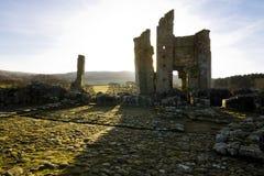 Edlingham slott northumberland royaltyfria bilder