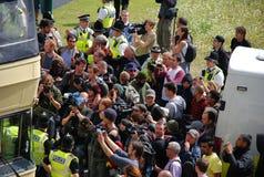 edlprotest för 08 10 28 bradford Arkivfoto