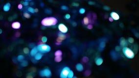 EDM голубое Bokeh освещает в много различных, ярких, и милых цветов Стоковые Изображения